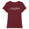 t-shirt chat-pristi classic couleur bordeaux