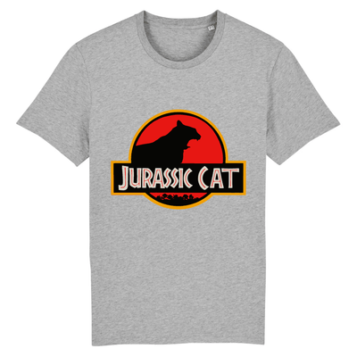 tee-shirt jurassic park chat couleur gris