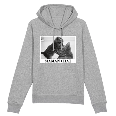 sweat maman chat couleur gris