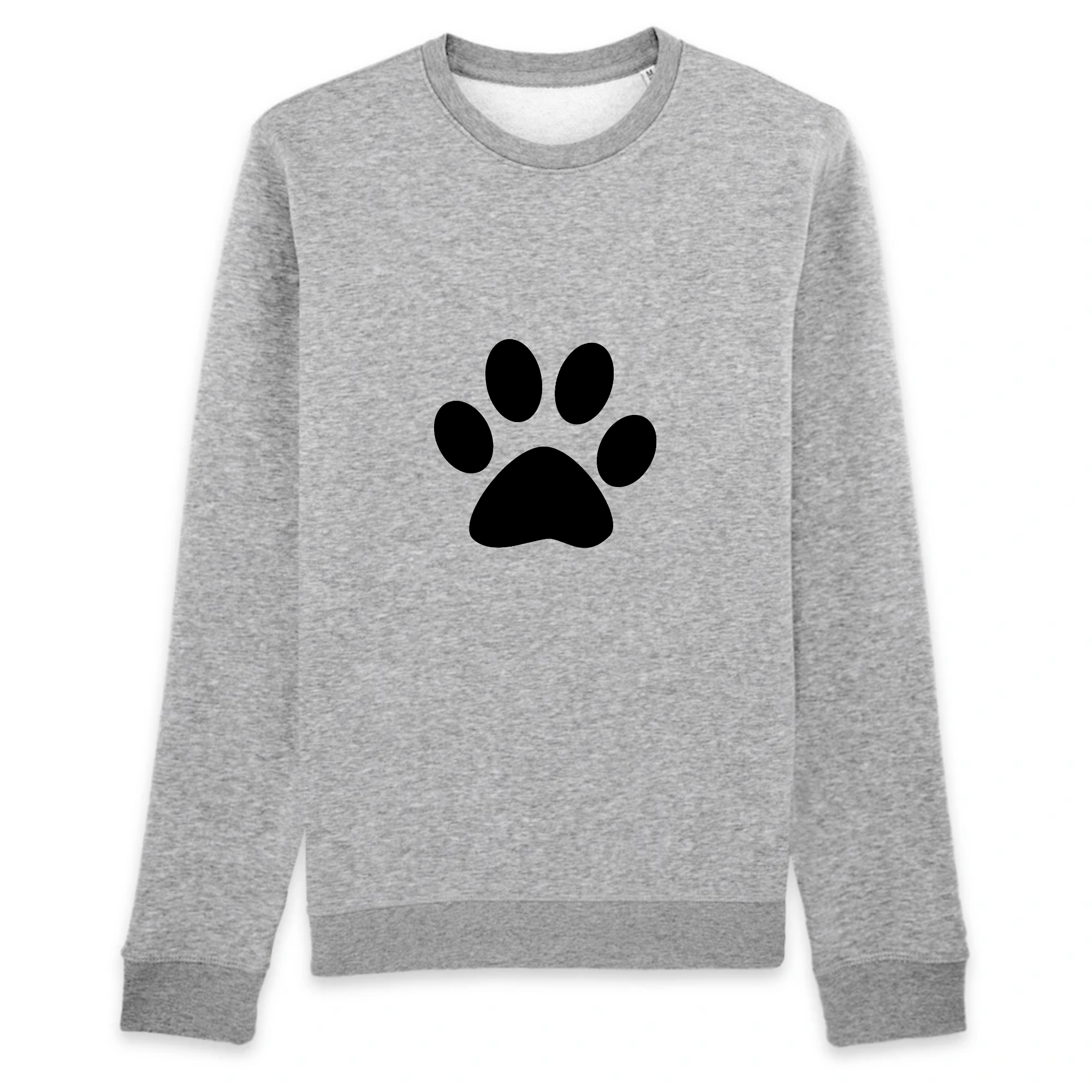 pull patte de chat couleur gris