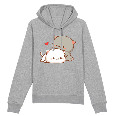 sweat chat kawaii couleur gris