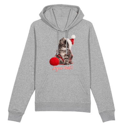 sweat chat noël couleur gris