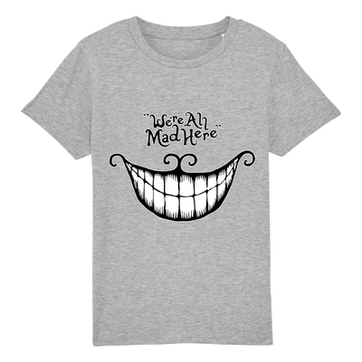 t-shirt chat du cheshire enfant couleur gris