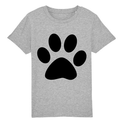T-Shirt patte de chat enfant couleur gris