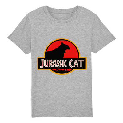 t-shirt jurassik park chat enfant couleur gris