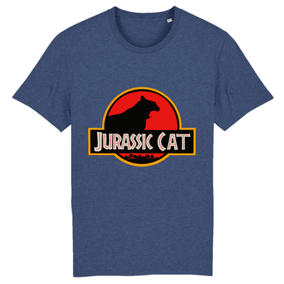 tee-shirt jurassic park chat couleur indigo