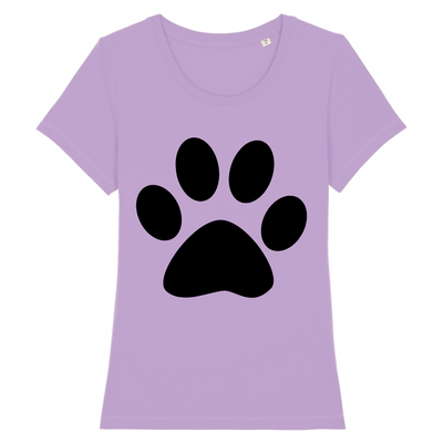 t-shirt patte de chat couleur lavande