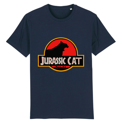 tee-shirt jurassic park chat couleur marine