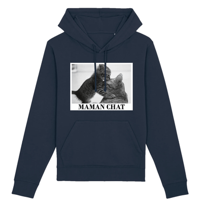 sweat maman chat couleur marine