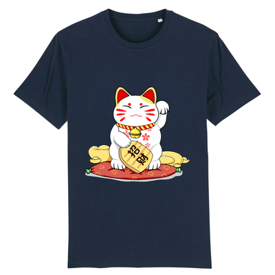 Tee-Shirt Chat Maneki Neko couleur marine