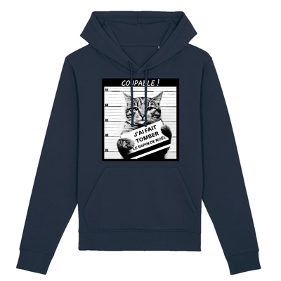 sweat chat humour couleur marine