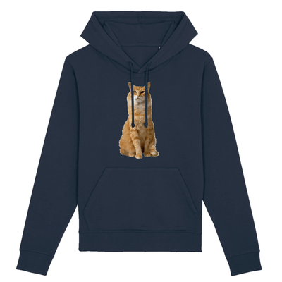 sweat chat roux couleur marine
