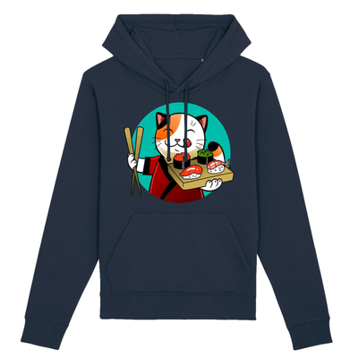 sweat chat sushi couleur marine
