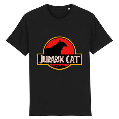 tee-shirt jurassic park chat couleur noir