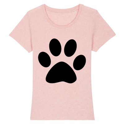 t-shirt patte de chat couleur rose