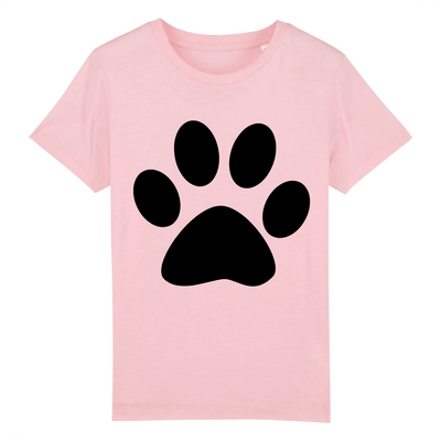 T-Shirt patte de chat enfant couleur rose