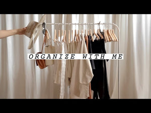Showing you how I organize my spring an summer clothing rack in today's video
