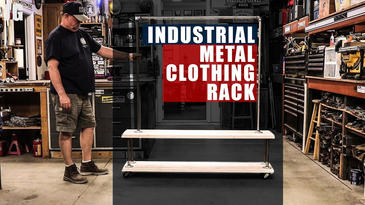 Industrial Metal Clothing Rack | JIMBO'S GARAGE by JIMBO'S GARAGE (3 years ago)