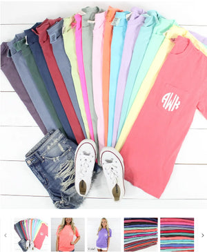 Order Here—> Cute Monogrammed Pocket Tee | S-XL for $13.99 (was $34.99) 2 days only.