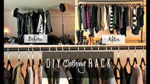 DIY Clothing Rack! | MissFashioneda by Carrie Murray (6 years ago)