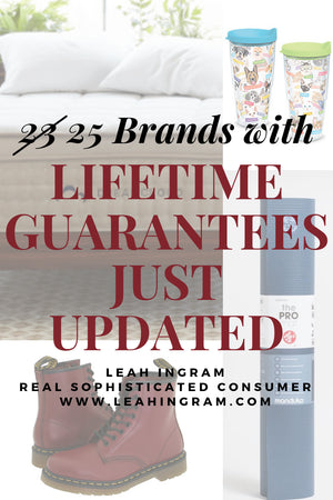 Brands with a Lifetime Warranty on Their Products
