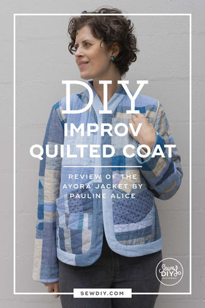 DIY Improv Quilted Coat