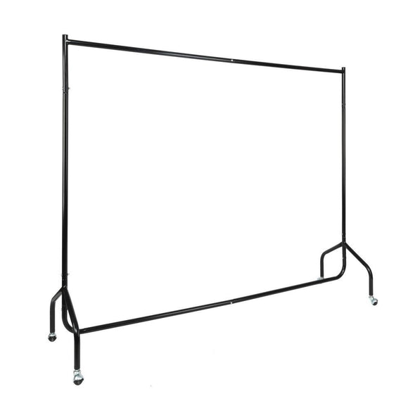 6ft 2-Section Removable Assembled Iron Garment Rack Hanger Black