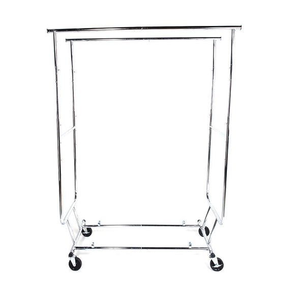 Heavy Duty Steel Double-bar Garment Rack Hanger Silver
