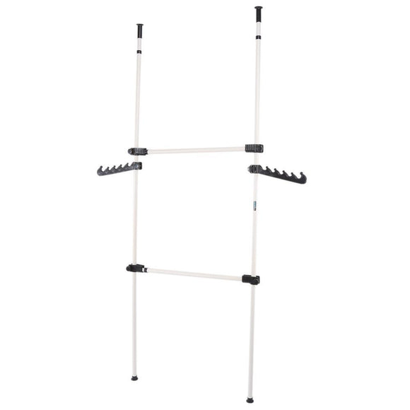2-4 Poles Clothes Hanger Adjustable Rack Organizer