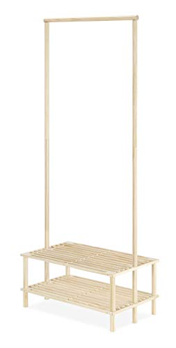 Whitmor Wood Shelves Garment Rack, Natural