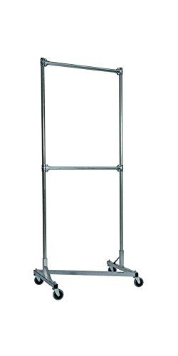 Heavy Duty Z-Rack Double Rail Garment Rack - 84 in. Uprights