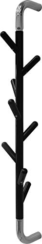 Headbourne Vertical Rotating Hat and Coat Rack, Wall Mounted, Steel, Black