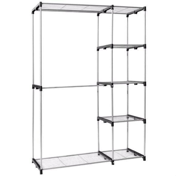 Portable 68-inch Clothes Hanger Bedroom Closet Organizer Shelving Unit
