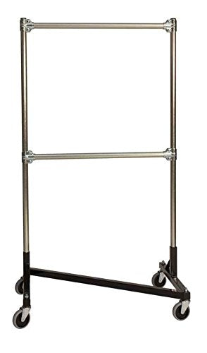 Heavy Duty Z-Rack Double Rail Garment Rack - 60 in. Uprights