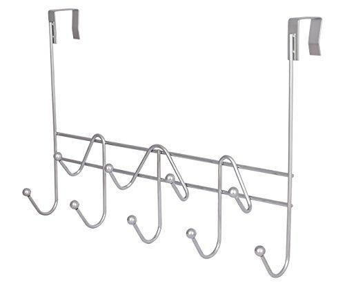 Selection esylife hooks over the door hook organizer rack hanging towel rack over door 9 hooks chrome finish