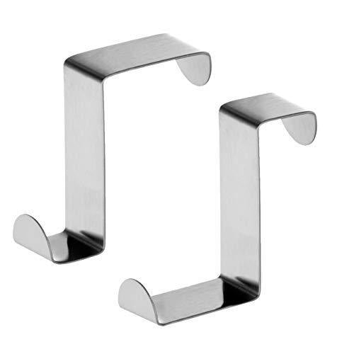 Budget friendly tatkraft seger over the door hooks reversible z hooks for over the door or cupboard door hold up to 11lbs 5 kg towel holders set of 2 stainless steel