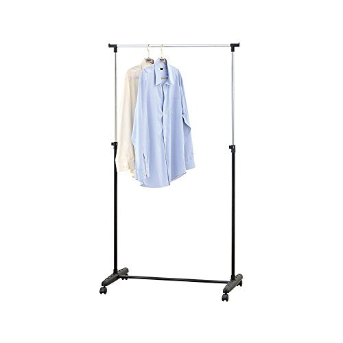 Mind Reader Rolling Garment Rack, Silver/Black