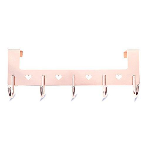 Best seller  gulevy rose gold over the door hook organizer rack 5 hook over door hanger hook heavy duty towel hook set robe hook set clothes hanger rack rose gold