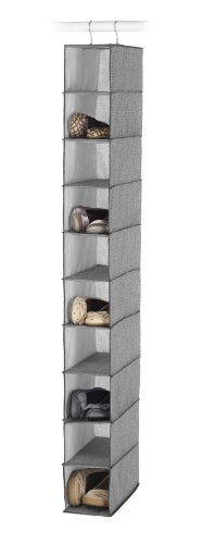 Whitmor Hanging Shoe Shelves - Crosshatch Gray
