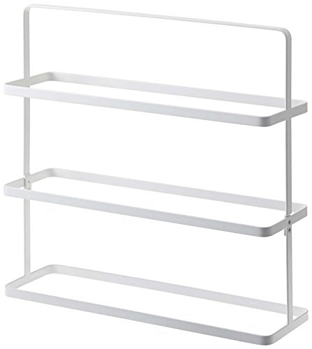 Three Tier Shoes Rack in White Finish - Powder Coated Stainless Steel, 20