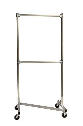 Heavy Duty Z-Rack Double Rail Garment Rack -72 in. Uprights