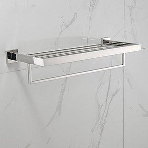 Shop here towel hanger bathroom shelf contemporary stainless steel 1 pc hotel bath double