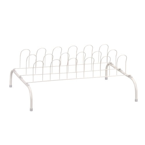Household Essentials 9-Pair Wire Shoe Rack, White