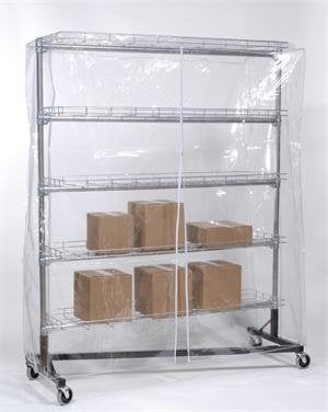 Quality Fabricators Clear Cover for Garment Rack (5'L x 5'H) [Kitchen]