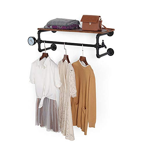 Bookshelf YNN Industrial Pipe Wall Mount Clothing & Garment Rack - Perfect for Retail Display, Organizing, Laundry (Size : 1003230cm)