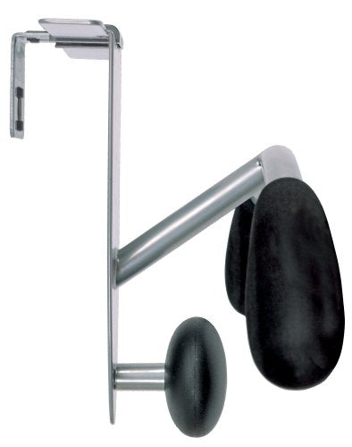 Alba Partition and Over-the-Door Coat Hook, Metallic Gray and Black (PMMOUSPART)