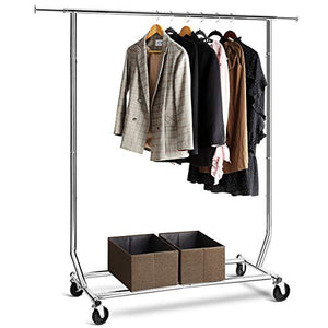 TomCare Garment Rack 200-220lb Capacity Adjustable Clothes Rack Clothing Rack Extensible Clothes Hanging Rack Commercial Grade Garment Rack Hanging Heavy Duty Clothing Garment Racks