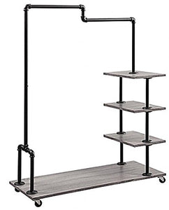 Generic elf Me Hanging Bar Shelf Metal Storage Organizer Home Shelf Met Home Shelf Metal rage Organiz Rolling Caster Caster Garment Rack ling Caster