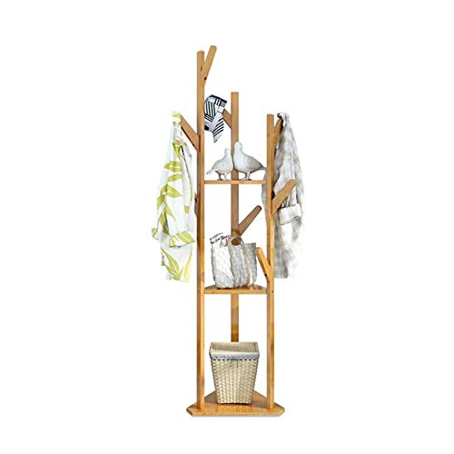 MEIDUO Coat Rack Free Standing Entryway Wooden Clothing Rack Hat Corner Hall Umbrella Stand Tree for Bedroom Living Room Office