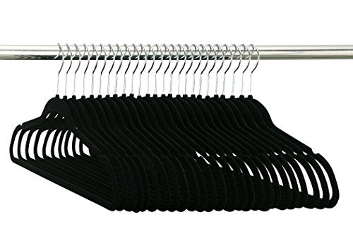 Organize It All Velvet Non-slip Clothing Hangers 50 Pack